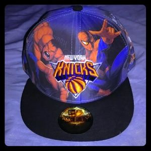 New Era NBA New York Knicks Fitted Hat Marvel